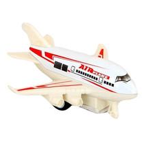 vliegtuig 10 cm die-cast wit/rood