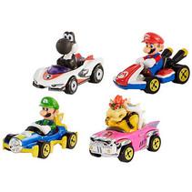 voertuigen Mario Kart 1:64 die-cast 4-delig