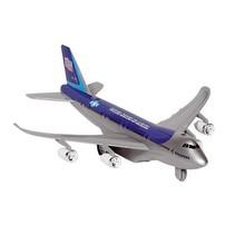 Metalen Vliegtuig Met Geluid en Licht 18,5 cm Blauw