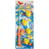 badspeelgoed eendjes hengelen 5-delig oranje