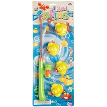 badspeelgoed eendjes hengelen 5-delig groen