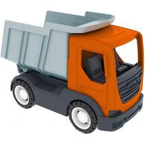 speelgoed Kiepwagen 26 cm jongens oranje/grijs