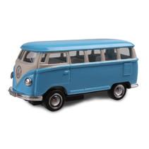 schaalmodel VW bus T1 pull-back 1:64 blauw