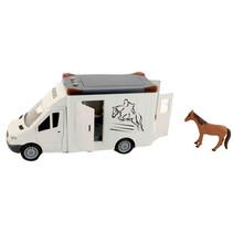 vervoerbus Beautiful Horse junior wit/bruin 2-delig