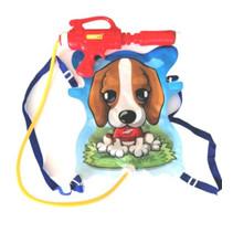 waterpistool/tank hond junior 35,5 cm blauw 5-delig