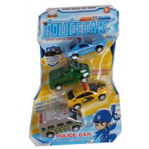 speelgoedauto's politie junior 4 stuks