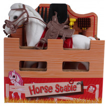speelset paard junior 15 cm polyester wit 2-delig