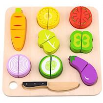 speelgoedeten groenten 24 x 2,5 cm hout 18-delig