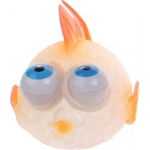 Squishy vis met bewegende ogen 9 cm oranje