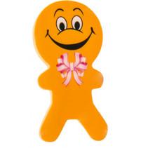 gum poppetjes junior 6 cm rubber oranje 2 stuks
