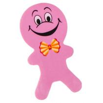gum poppetjes junior 6 cm rubber roze 2 stuks