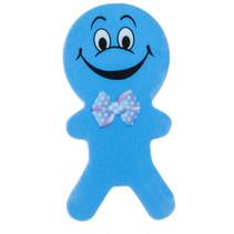 gum poppetjes junior 6 cm rubber blauw 2 stuks