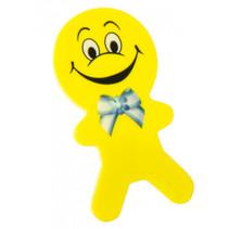 gum poppetjes junior 6 cm rubber geel 2 stuks
