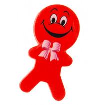 gum poppetjes junior 6 cm rubber rood 2 stuks