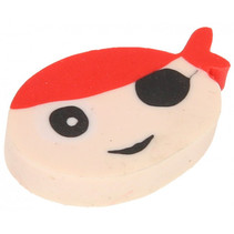 gum Piraat jongens 4 cm rubber blank/rood