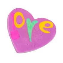 gum Hartje meisjes 3,5 cm rubber roze/paars