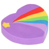 gum Regenboog Hart meisjes 3 cm rubber paars
