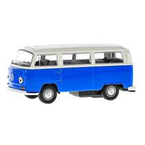 bus Volkswagen T2 jongens 12 cm staal die-cast blauw