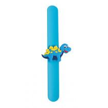 klaparmband dinosaurus jongens 21,5 cm siliconen blauw