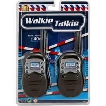 walkie-talkieset Politie 40 meter zwart 2-delig