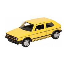 schaalmodel VW Golf 1 GTI pull-back 12 cm geel