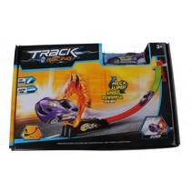 track racing met auto paars 80 cm