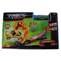 track racing met auto groen 80 cm