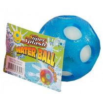 waterbal met licht junior 6,5 cm spons blauw