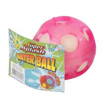 waterbal met licht junior 6,5 cm spons roze