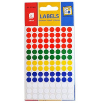 etiketten rond gekleurd 8 mm papier 3 vellen á 104 stuks