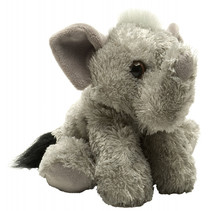 knuffel olifant junior 18 cm pluche grijs