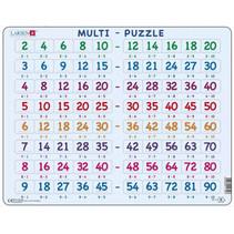 legpuzzel Maxi Leren vermenigvuldigen 80 stukjes