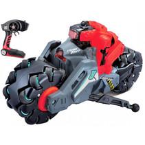 monstertruck RC Cyklone Drift 2.4 GHz rood/grijs