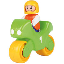 motor My First Racers junior 11 x 4 cm geel/groen
