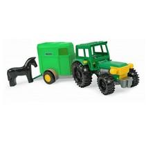 tractor met trailer 36 cm groen