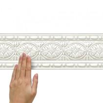 wanddecoratie randsticker Sculptuur 4,5 m wit