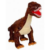 speelfiguur dinosaurus jongens 60 cm pluche bruin