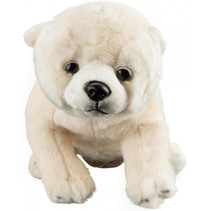 knuffel baby ijsbeer junior 32 cm pluche wit