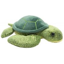 knuffel zeeschildpad junior 18 cm pluche groen