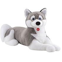 knuffel husky Marcus junior 100 cm pluche grijs/wit