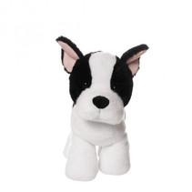 knuffel Lucky de hond 23 cm pluche wit/zwart