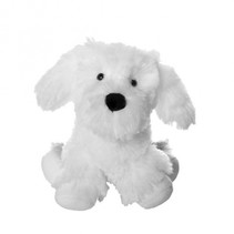 knuffel Max de hond junior 20 cm pluche wit/grijs