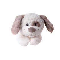knuffel hond junior 31 cm pluche wit/bruin