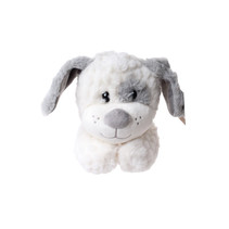 knuffel hond junior 31 cm pluche wit/grijs