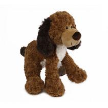 knuffel hond junior 33 cm pluche bruin