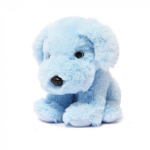 knuffel hond junior 15 cm polyester blauw