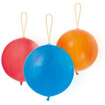 ballen 35.5 cm rood/blauw/oranje 3 stuks