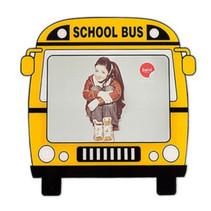 fotolijstje magnetisch School Bus 4,7 x 3,5 cm geel