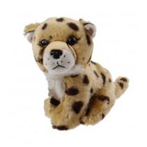 knuffel luipaard 14 cm bruin