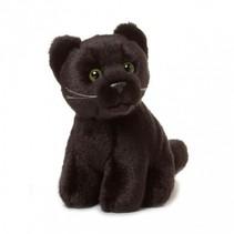 knuffel panter 14 cm zwart